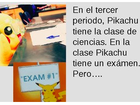 Pikachu School Supplies and Classes TPRS Spanish