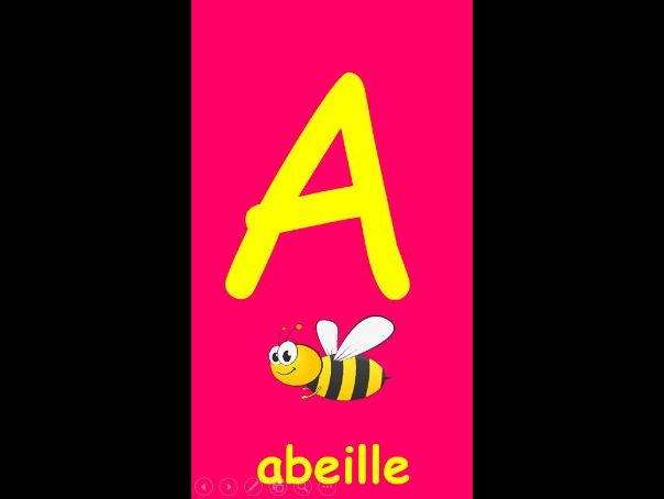 French alphabet display