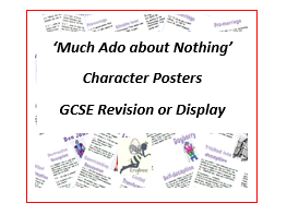 Nine 'Much Ado about Nothing' Character Revision Posters
