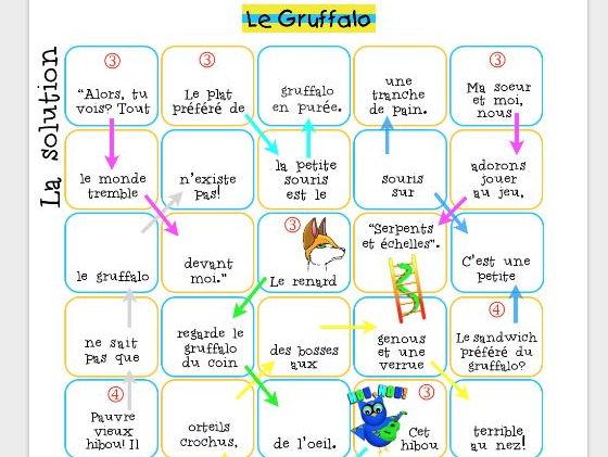 "Une ""marelle""  pour accompagner Le Gruffalo"