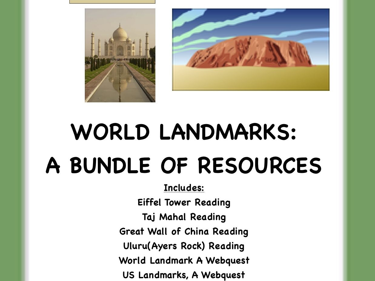 World Landmarks, A Bundle of Resources!