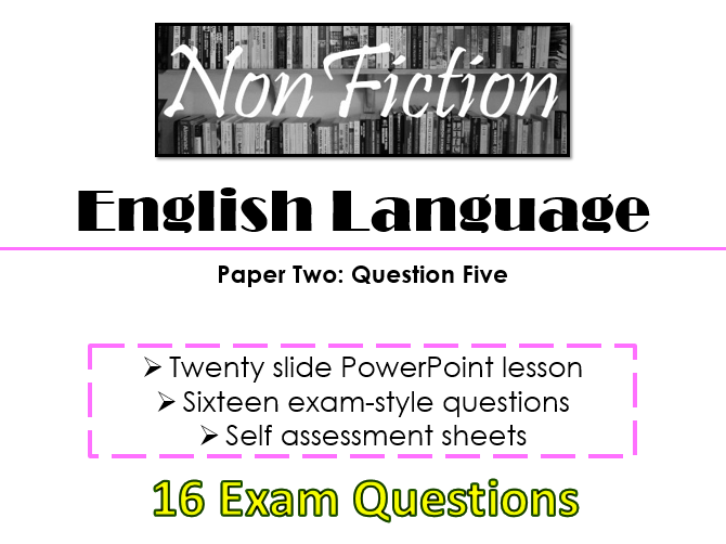 English Language Paper Two - Section B: Question Five (AQA, New Specification)