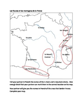 Map of France Partner Speaking activity