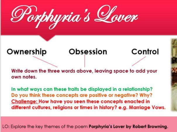Porphyria's Lover GCSE Poetry Lesson