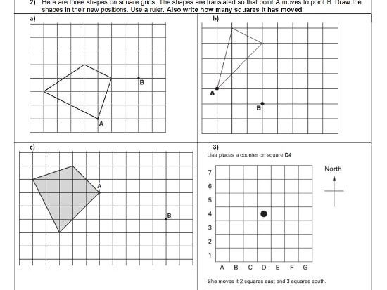 translation geometry position of shape ks2 year 5 6 worksheet only by trabzonunal. Black Bedroom Furniture Sets. Home Design Ideas