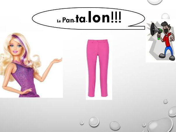 Les vetements clothes presentation tres rigolo!