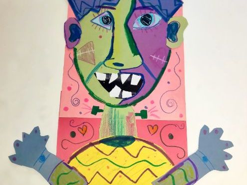 Picasso Dual Monster Puppet Portraits