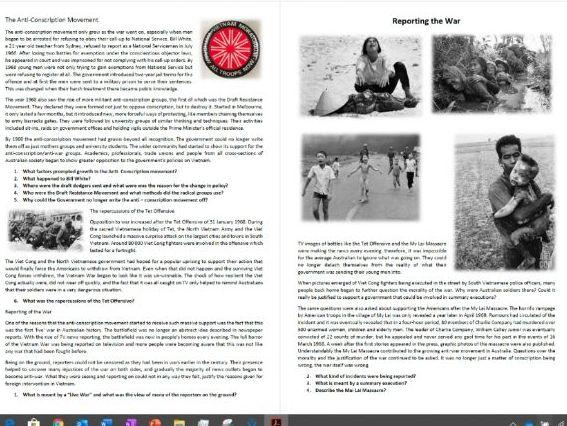 The Vietnam War - Class Workbook