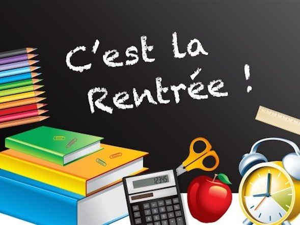 "PowerPoint presentation in French and English about ""la rentree"", with vocab revision"