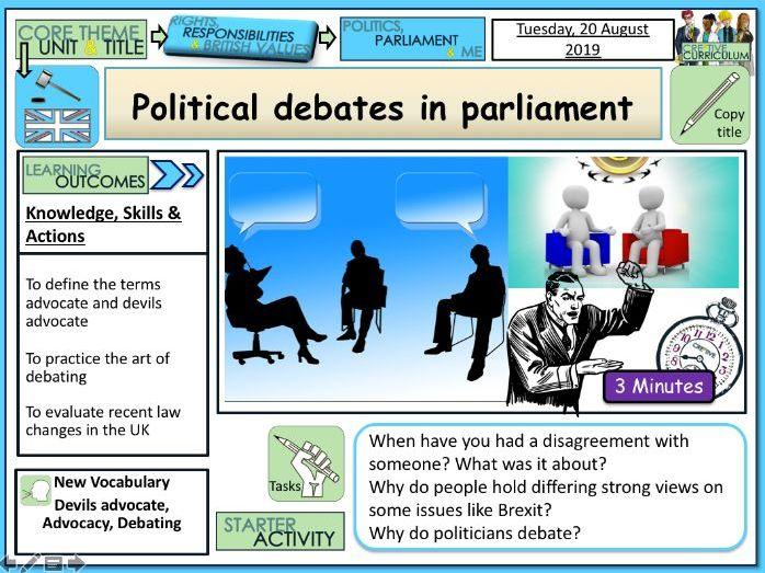 PP Political debates in Parliament