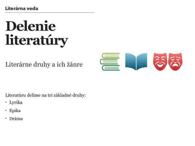 Delenie literatúry