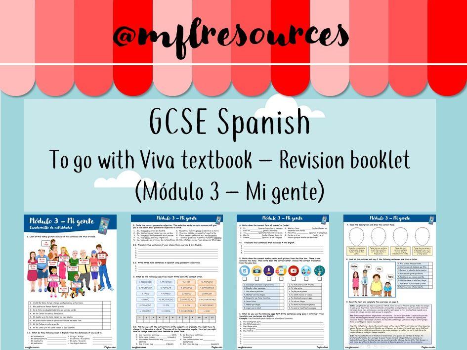 GCSE Spanish - Module 3 - Mi gente - Revision booklet