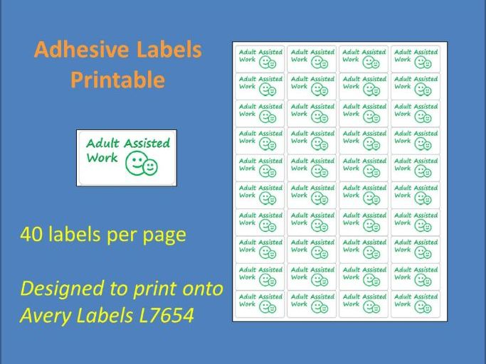 Adult Assisted Work Adhesive Label Printable Time Saving Marking Sticky Label L7654