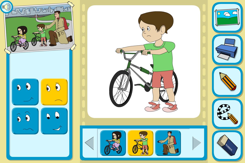 Sam and Ella at the Park Character Focus - Interactive Activity - KS1 Literacy