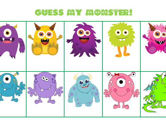 u0026quot guess my monster  u0026quot  adjective game by sleepyteacher1