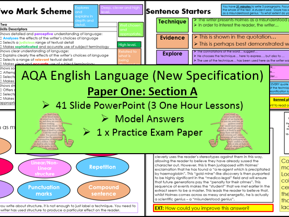 English Language Paper One - Section A (AQA, 9-1 GCSE)