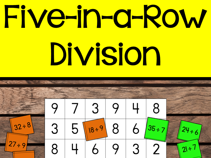 Division Facts - Five-in-a-Row