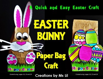 Easter Bag   ::  Easter Bunny  ::  Easter Eggs  ::  Easter Paper Bag Craft