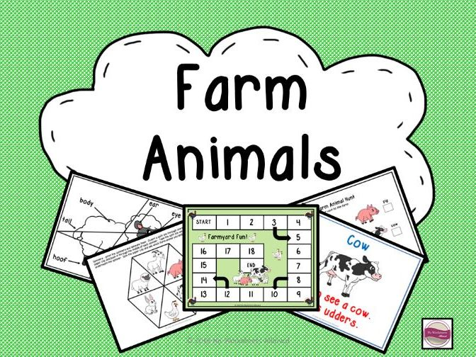 Farm Animals: Book, Game & Activities