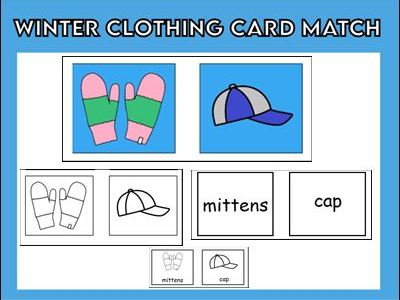Winter Clothing Card Match