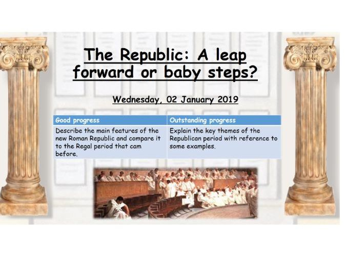An introduction to the Roman Republic: A leap forward or baby steps?