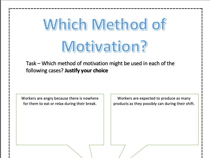 Motivational Methods - Recommendation