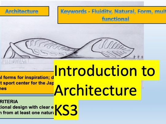 KS3 Architecture - Zaha Hadid & Natural Forms - Graded Outstanding