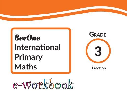 Grade 3 Fractions Workbook of 41 worksheets from BeeOne Books