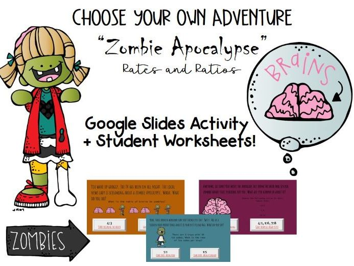Rates and Ratios Digital Math Activity Using Google Slides