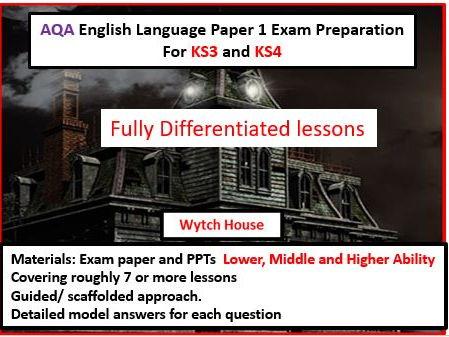 AQA GCSE English Language Exam Preparation Paper 1 Differentiated
