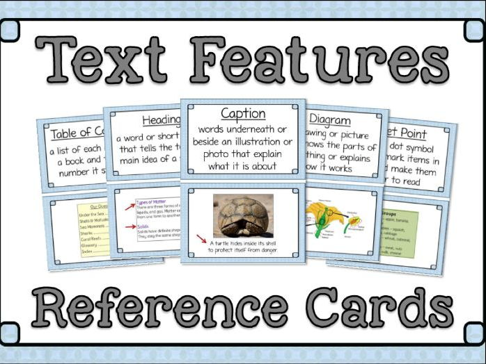 Text Features Posters and Activity