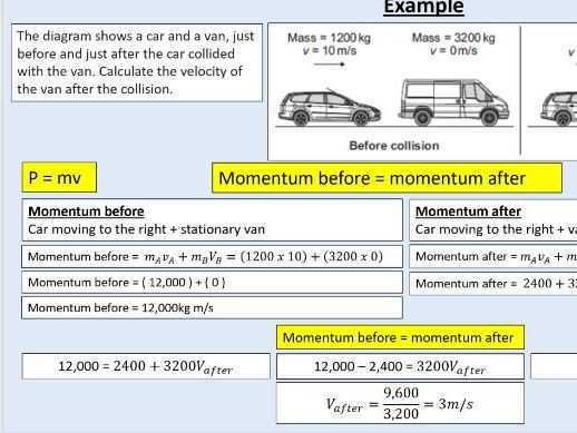 GCSE Physics 4.5.7.(1-2)  Forces - Momentum and conservation of momentum (AQA)