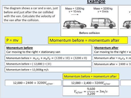AQA GCSE Physics (4.5.7.1+2)  Forces - Momentum + conservation of momentum
