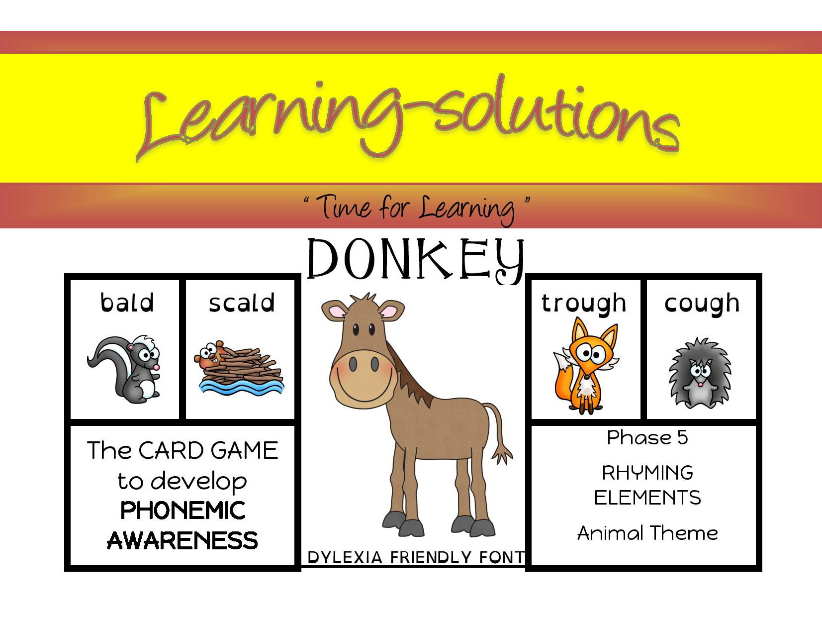 DONKEY Phonics CARD GAMES Phases 1 to 8 - 66 games