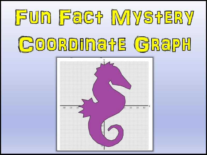Seahorse Mystery Coordinate Graphing Picture