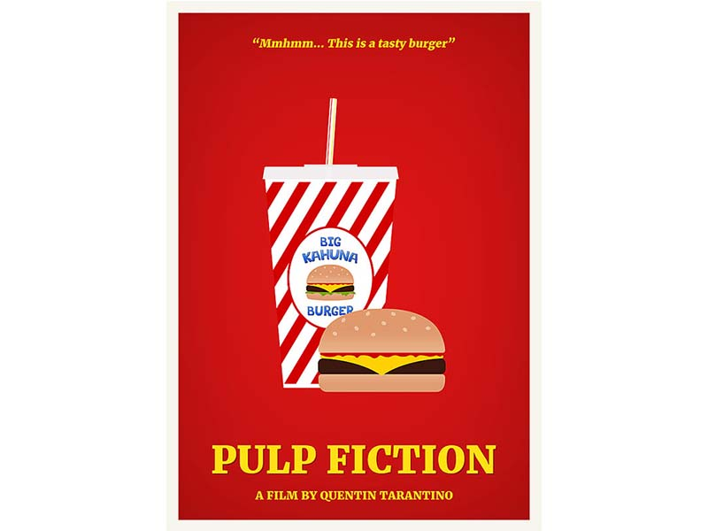 Pulp Fiction - Illustrated Film Poster