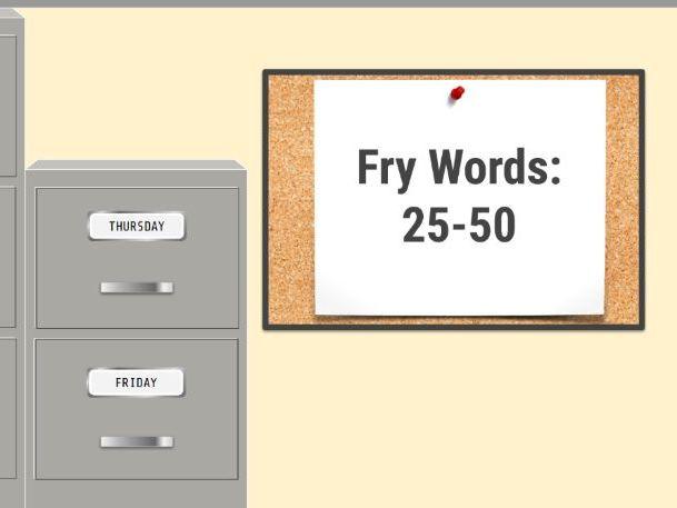 FRY Words 25-50