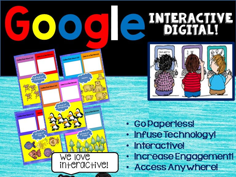 Google Drive Collective Nouns Digital 2nd Grade Activities for L.2.1.A