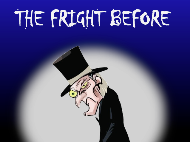 The fright before Christmas - A blackly funny play script and poem.
