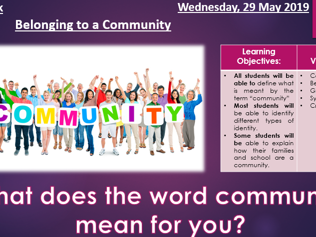 What does Community mean?