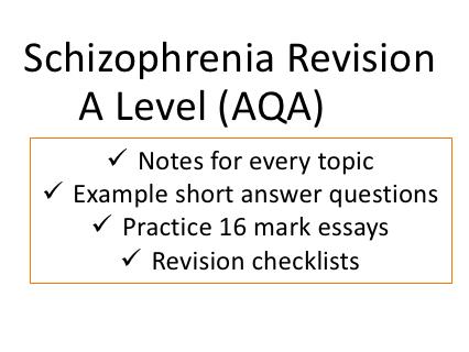 Schizophrenia Revision Ultimate Bundle | A Level AQA New Spec
