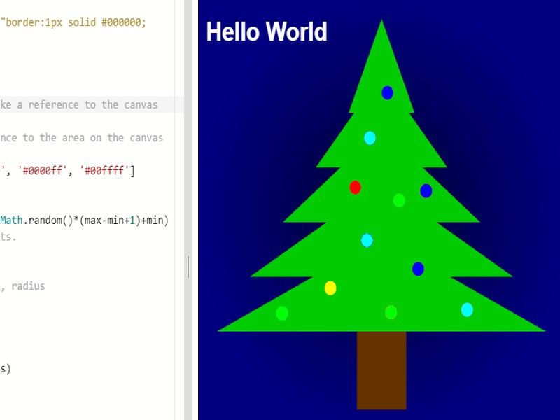 Drawing a Christmas tree programmatically KS3 KS4 abstraction pattern recognition