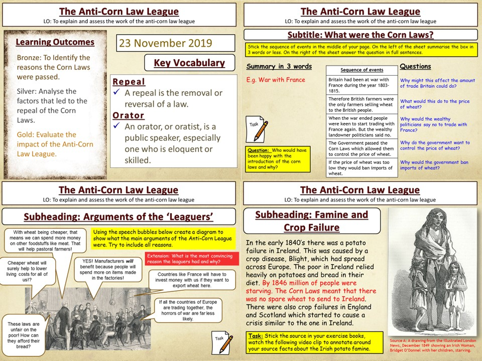 Reform and Reformers: The Anti-Corn Law League