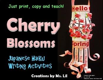 Japanese Cherry Blossom Lanterns ::  Spring Craft  ::  Haiku Poetry