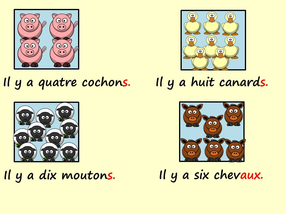 Les animaux / animals in French