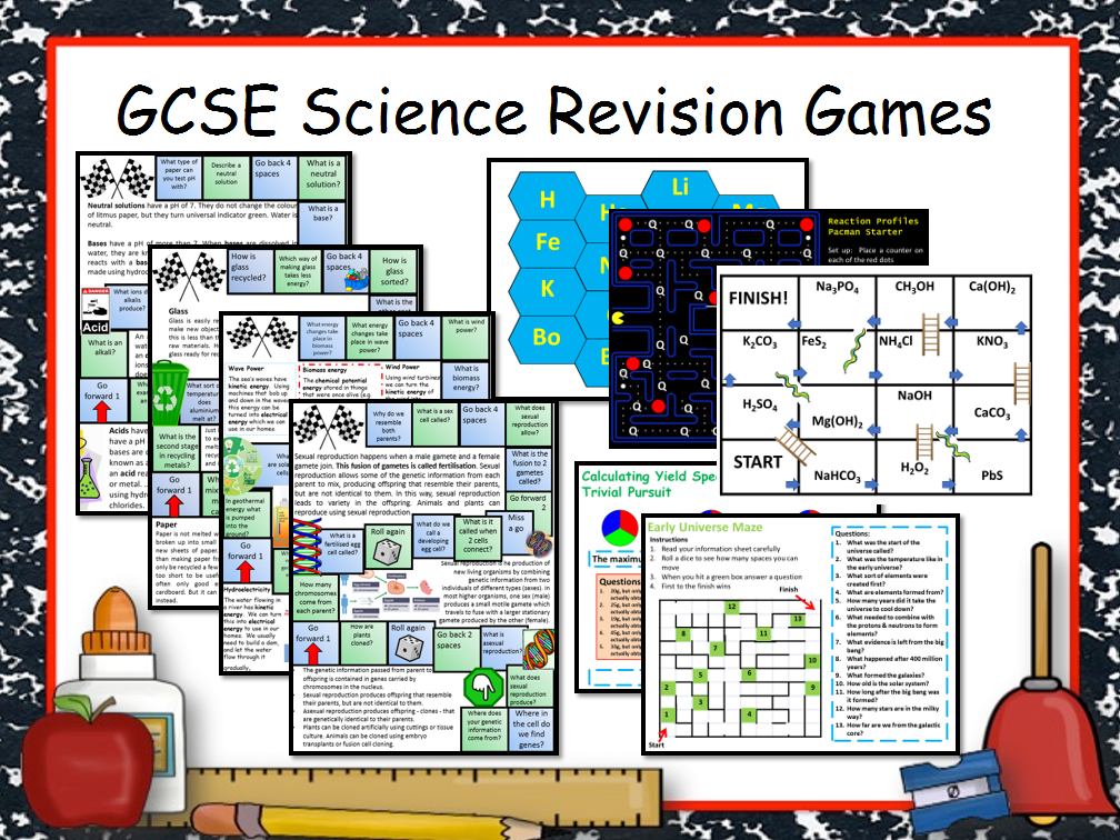 63 GCSE Science Revision Games by chalky1234567 - Teaching Resources - Tes
