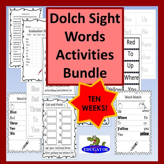 Dolch Sight Words - Activities Bundle