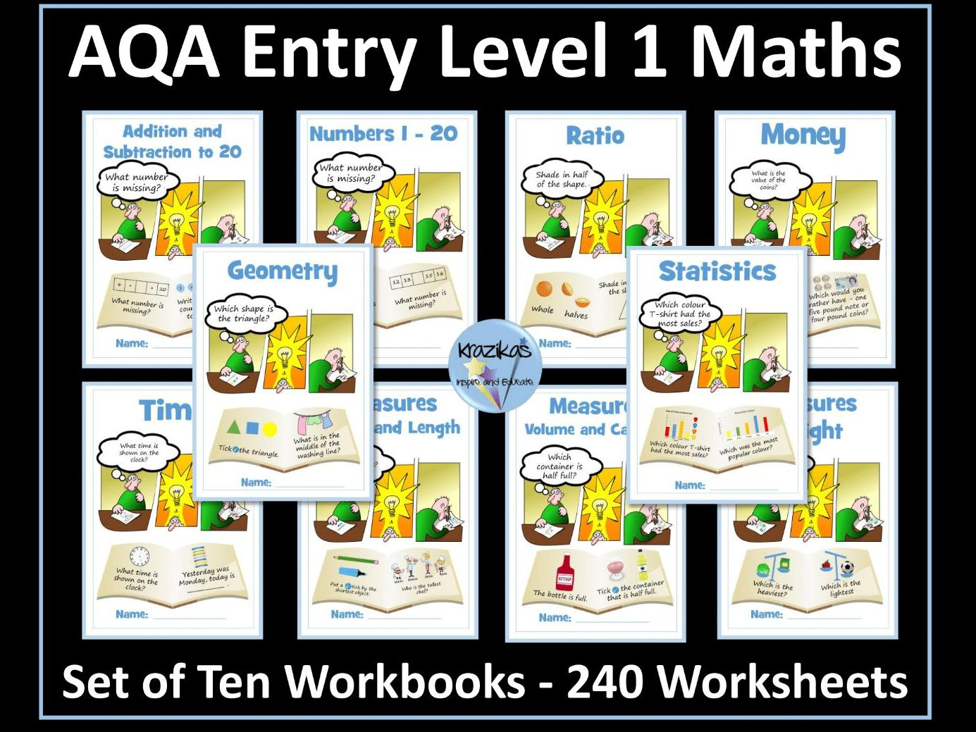 AQA Entry Level 1 Maths Bundle