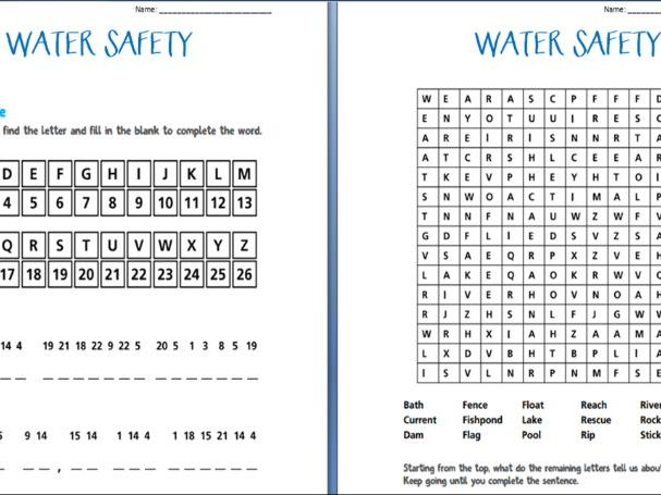 Water Safety Booklet (worksheets)