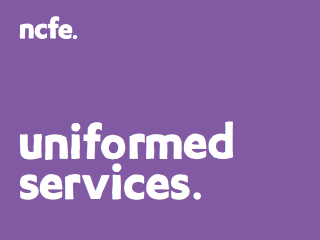 LEVEL 2 DIPLOMA FOR ENTRY TO THE UNIFORMED SERVICES ( NCFE 601/2456/8) -  Unit 4 workbook Y/505/9137